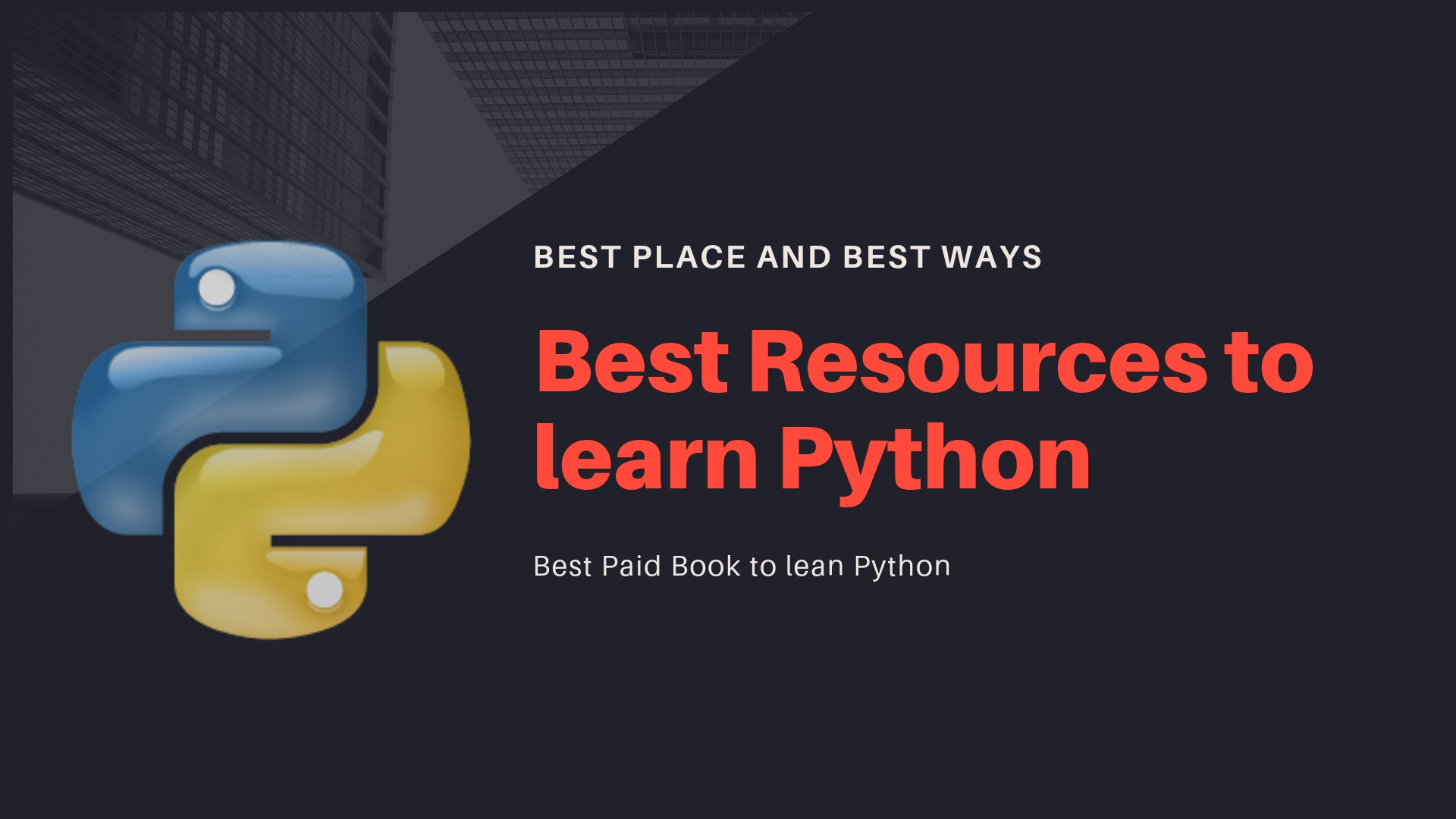Best resources, place, and books to learn python