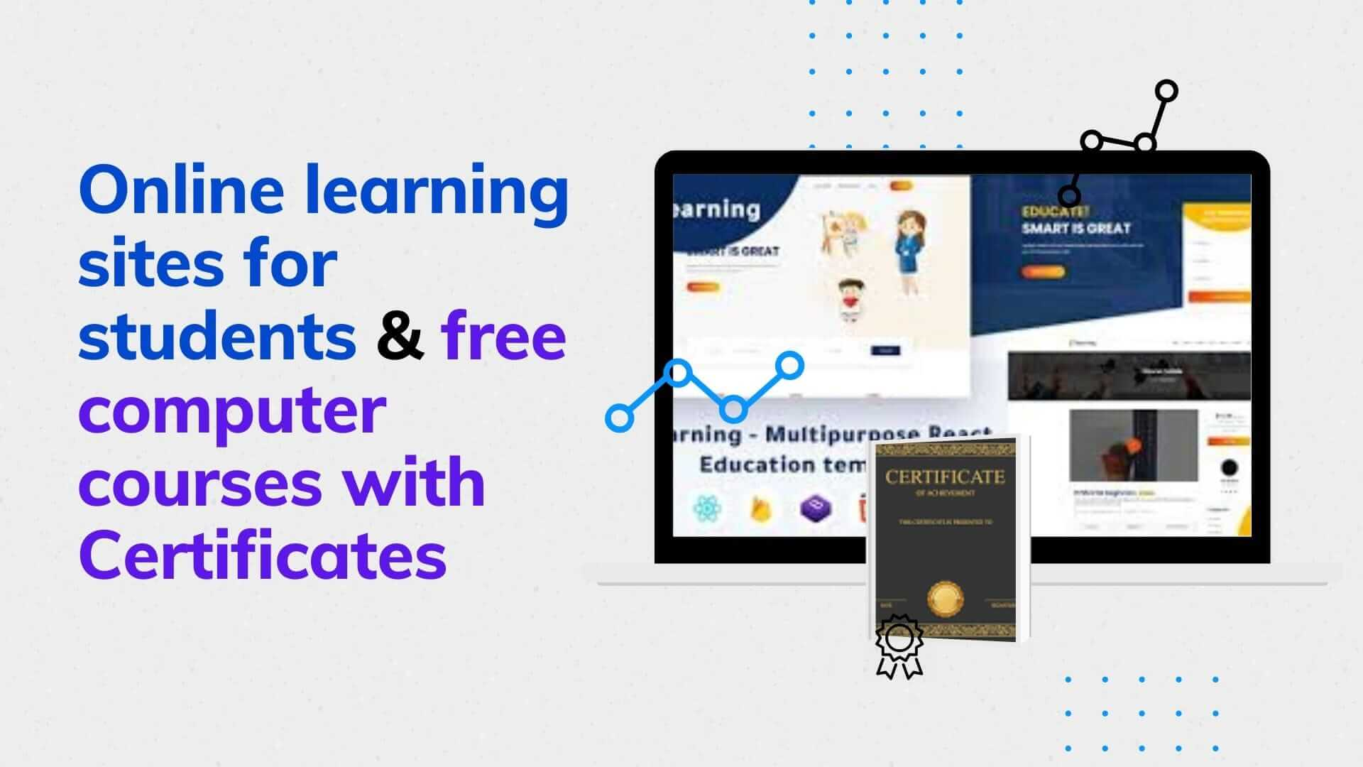 E-learning websites for computer courses with free easy online certifications
