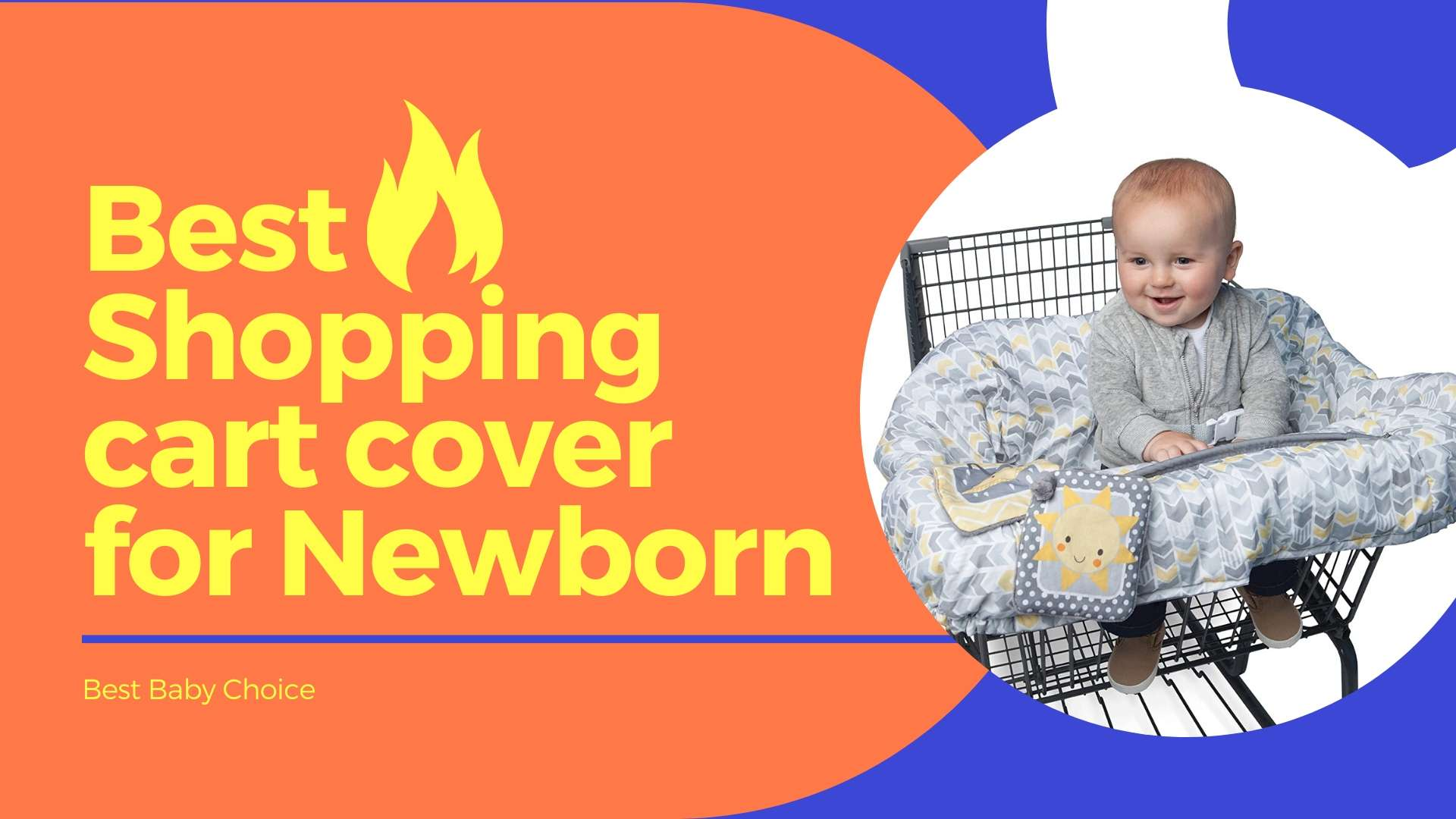 Shopping cart cover for newborn baby
