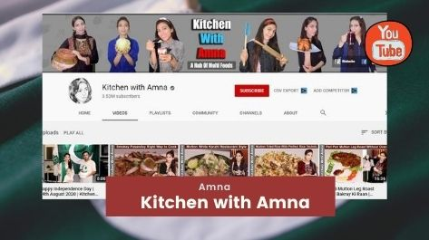 Kitchen with Amna Top youtube channels in Pakistan