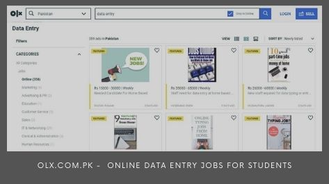 OLX.com.pk Online Data Entry Jobs for students