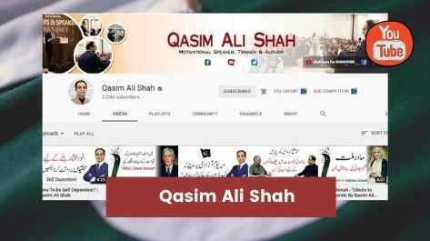 Qasim Ali Shah - Top YouTube channels in Pakistan