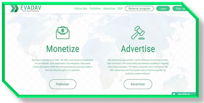 Evadav Best competitor of AdSense